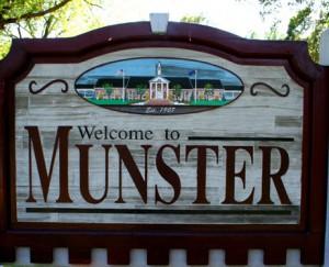 Munster IN sign