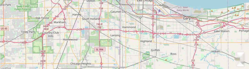Northwest Indiana Map